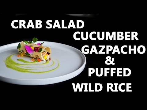 How To Make Crab Salad With Cucumber Gazpacho & Puffed Wild Rice