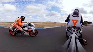 GoPro VR: Fun Laps and Fast Wheelies on the BMW S1000RR Superbike