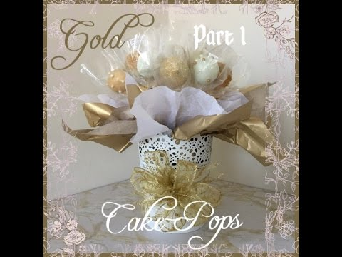 Gold Cake Pop  - Bouquet in a Tin - Part 1 of 2