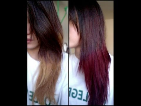 Auburn-Ombre Hair Coloring