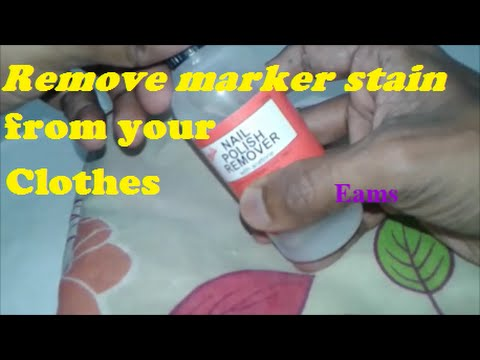 Remove Marker stain from your clothes