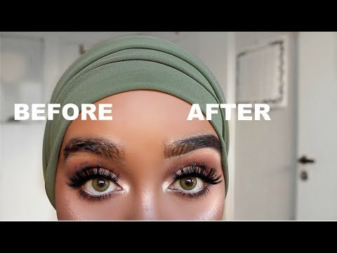 EYEBROWS TUTORIAL WITHOUT PLUCKING| Edna Abdiasis