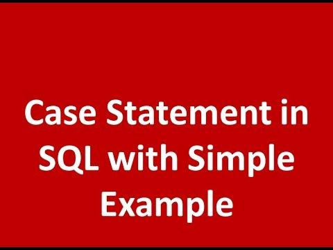 Case Statement in SQL server
