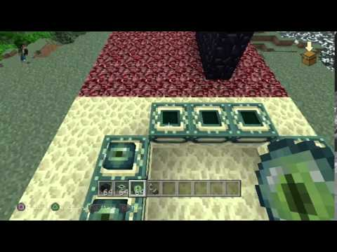 minecraft how to make a nether and ender portal ps4