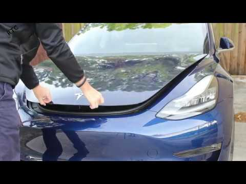 Tesla Model 3 - How To: Close the Front Trunk