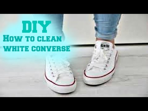 DIY How to clean white converse    Nicole Gomez