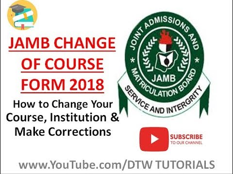 JAMB Change of Course Form 2018 Guide