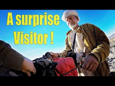 A Surprise visitor..... I was shocked what he did ! adventure riding in Oman Ep. 8