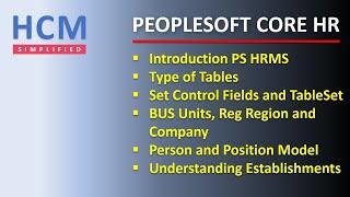 Hr Fundamentals   Part 1   Peoplesoft Core Hr