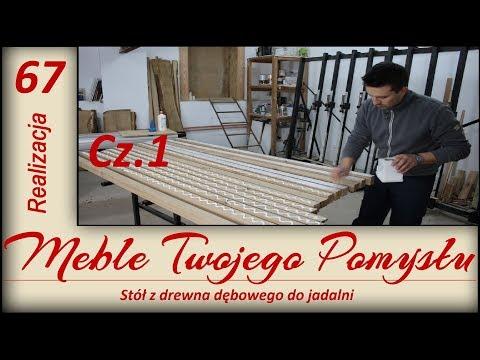Stół z drewna dębowego do jadalni Cz.1 / Oak dining table for the dining room