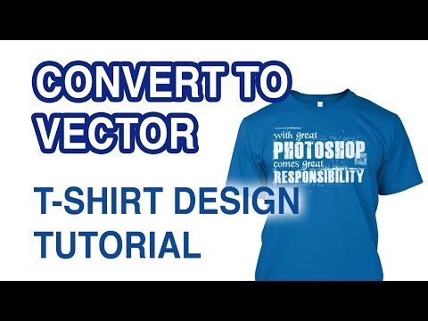 How to convert a T-Shirt design to Vector in Illustrator
