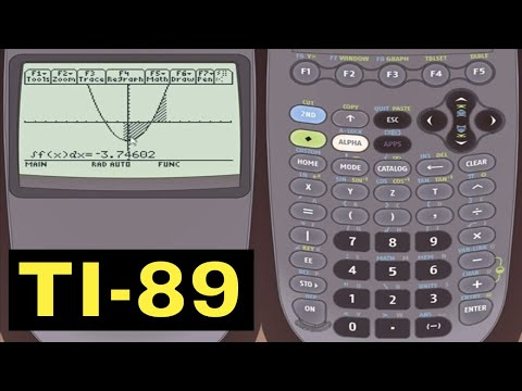 TI-89 Calculator - 33 - Calculating the Definite Integral in Graph Mode