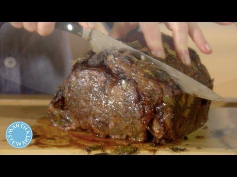 Carving Prime Rib Roast - Martha Stewart Cooking School - Martha Stewart