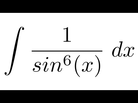 Integral of 1/sin^6(x) (substitution)