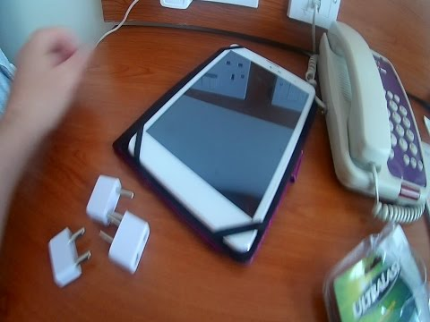 How to charge your US cell phone / tablet on travel in UK or Europe