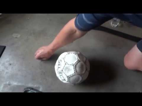 How to Pump Up a Soccer Ball - Using a Bike Pump and Ball Needle - Inflate or Blow Up a Football