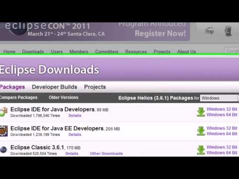Android Development Tutorial - 2 - Downloading the Android SDK and Eclipse