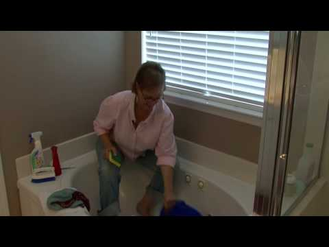 Bathroom Cleaning Tips : How to Clean a Stained Bathtub