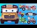 appMink School Bus | Police Car Fire Rescue | Monster Truck Steam Train Kart Racing kids videos