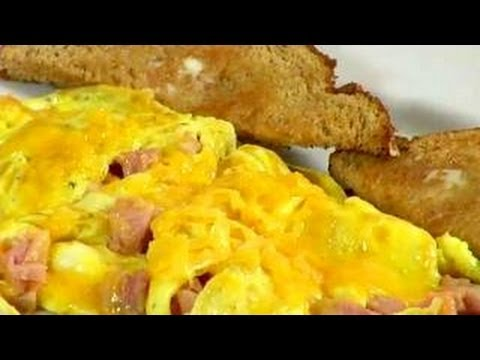How To Make an Omelette : Ham and Cheese Omelette Recipe Video