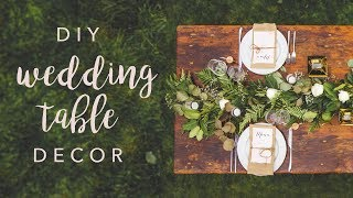 swoons diy wedding table decor