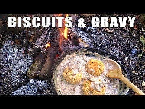 Bushcraft Breakfast - Biscuits & Gravy