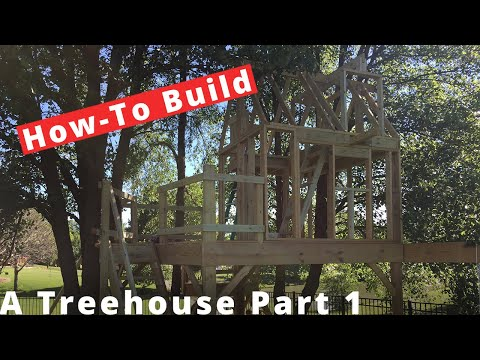 Building a Treehouse Part 1 - Framing the Base