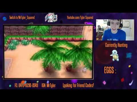 Shiny Squirtle Breeding! SPLATFEST GO BLUE! - Twitch Stream 2/19/16