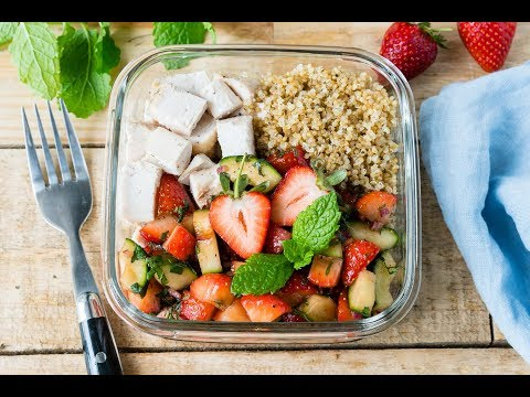 Eat Clean: Roasted Chicken + Strawberry Salsa Bowls