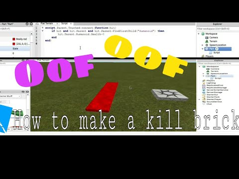 Roblox Studio: How to make a kill brick