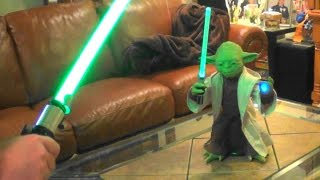 Star Wars Interactive Yoda Trains me in the Force