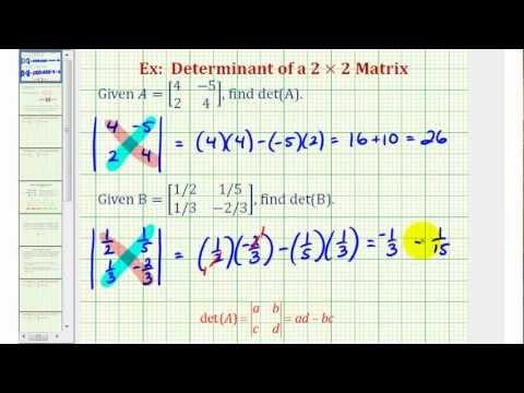 Ex: Determinant of a 2x2 Matrix