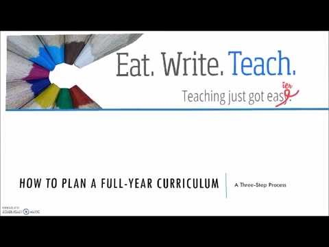 Lesson 1: How to Plan a Full-Year Curriculum