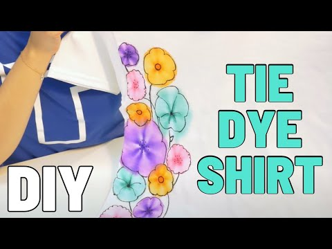Make a Custom Tie Dye Shirt with Sharpies in Minutes! | T-shirt.ca