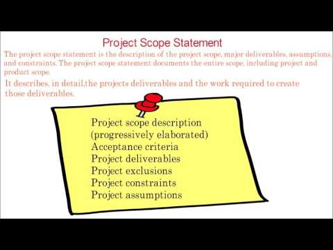 24. PMP tutorial | What is project scope statement | Part of project scope statement