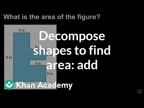 Decomposing shapes to find area (add) | Math | 3rd grade | Khan Academy