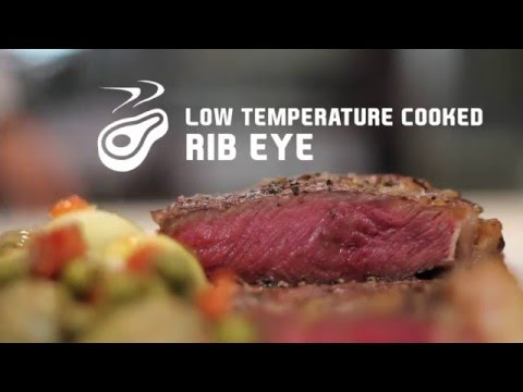 Low temperature cooked rib eye