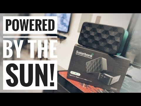 This Bluetooth Speaker is Solar Powered!