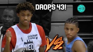 Meechie Johnson DROPS 43 vs JULIAN NEWMAN! ELITE PG BATTLE!