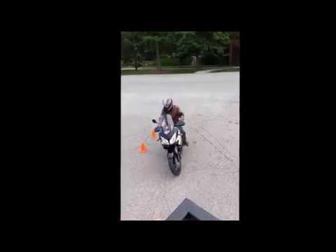 Ontario M1 Motorcycle Exit test Orillia