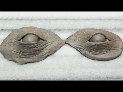 How-to sculpt eyes using Polymer Clay.  The easy way!