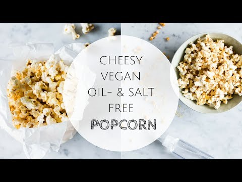 OIL FREE VEGAN CHEESE POPCORN