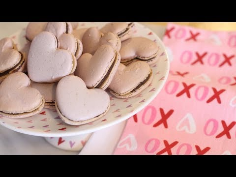 Nut-Free Heart Shaped French Macarons