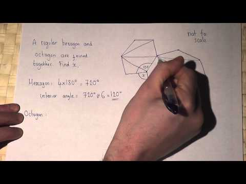 Geometry : interior angles of hexagons and ocatagons