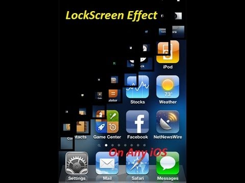 How To Get Lock Screen Effect on iPhone 5/4s/4/3Gs/3,iPad mini,iPod Touch with Any (iOS)