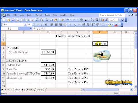 Excel 2003 Date Functions