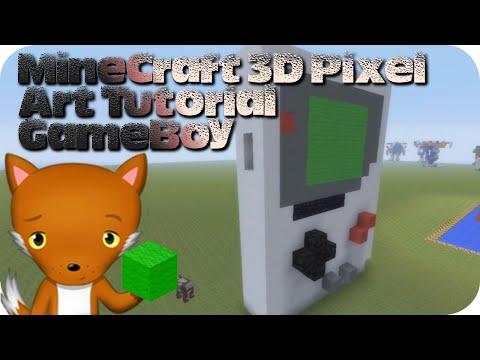 MineCraft 3D Pixel Art Tutorial - GameBoy