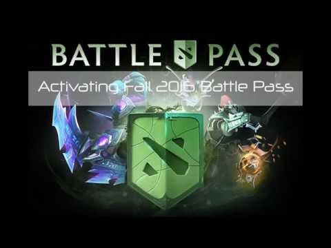 Dota 2 : Activating Fall 2016 Battle Pass