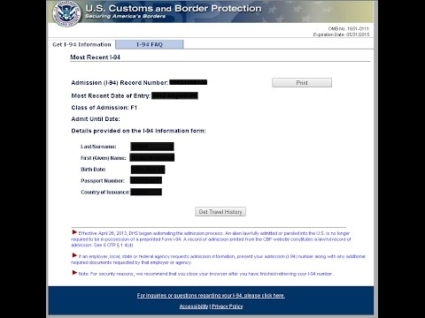 K1 Fiance Visa - How to check your I 94 (Requirements for SSN)