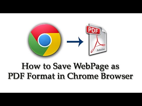 How To Save Webpages as PDF Files With Google Chrome Browser - [in Telugu]
